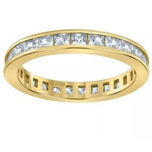 925 Sterling Silver CZ 3mm Ring Band S 6-9